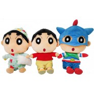 COMPLETE SET 3 PLUSH 30cm SHINCHAN Characters Pijama Superhero Play By Play