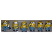BOXED SET 6 FIGURES from Despicable Me MINION Minions