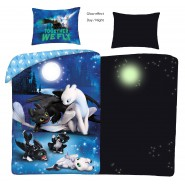 Bed Set How To Train Your Dragon GLOW IN THE DARK With Bag DUVET COVER 140x200 Cotton