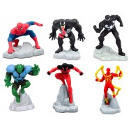 COMPLETE SET 6 Mini FigureS 5cm Characters Spiderman Ultimate Cake Topper