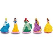 COMPLETE SET 5 Mini Figure 5cm Characters Disney Princess Belle Snow White Rapunzel Cake Topper