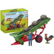 Playset Hay Conveyor With Bauer Toys SCHLEICH 42377