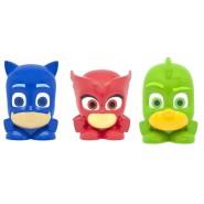 PJ MASKS Complete LOT 3 Mini FIGURES Mash'ems Super Squishy Owlette Catboy Gekko 3cm ORIGINAL