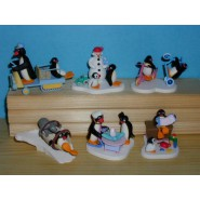 PINGU Penguin RARE Complete Set 6 DIORAMAS Trading Figures JAPANersary
