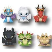 How To Train Your Dragon Complete Set 6 Mini CHARACTERS 4cm ORIGINAL Puzzle Palz Eraser DREAMWORKS