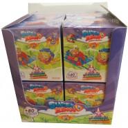 SUPERZINGS Complete Box 8 Dual Box 16 Figures 8 SKYRACER 8 AEROWAGON ORIGINAL Super Zings Kaboom Serie 5 Violet