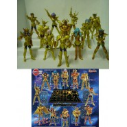 RARE Complete Set 12 Mini Figures Saint Seiya GOLDEN Original Gashapon Figure Part 3 BANDAI
