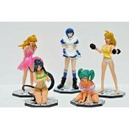 IKKI TOUSES Rare Set 5 Figures 9cm EYES CATCHING Gashapon RUNA Japan