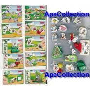 Complete Set Gadgets ASTERIX 2004 Magnets etc. Serie KINDER FERRERO Choco Eggs
