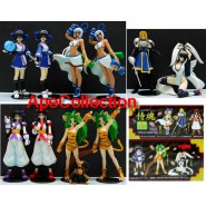 SAMURAI SPIRIT Rare Set 10 Figures 9cm Gashapon YUJIN Japan NEW MINT