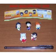 INUYASHA Complete Set 5 MINI FIGURES with PINS Rare BANPRESTO Japan