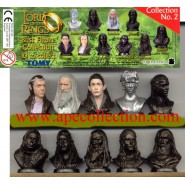 RARE Set 10 MINI Figures Busts LORD OF THE RINGS Part 2 Original TOMY Gashapon NEW MINT