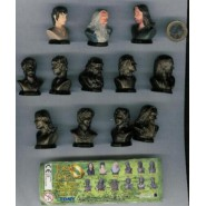 RARE Set 12 MINI Figures Busts LORD OF THE RINGS Part 1 Original TOMY Gashapon NEW MINT