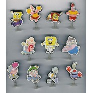 Set 11 MINI Figures with Spring and suction cap SPONGEBOB Bob Spugna Patrick Sandy