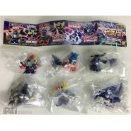 RARE Complete Set 6 MINI Figures Deformed ROBOT WARS PART 3 Goldrake Raideen Getter Dancougar Gashapon BANDAI Japan