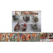 RARE Complete Set 6 Figures KAMEN RIDER PART 2 Gashapon BANDAI Japan