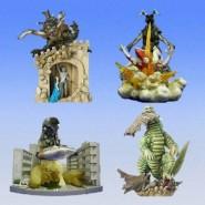 RARE Complete Set 4 Diorama Figures ULTRAMAN PART 2 Gashapon BANDAI Japan