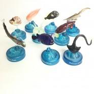 BOTTLE CAP Complete Set 9 MINI FIGURES Collection THE DEEP SEA ODISSEY Kaiyodo