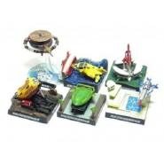 SET 6 Trading Figures Mini Diorama THUNDERBIRDS LAUNCH PODS Thunderbird BANDAI JAPAN