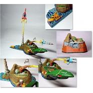 SET 4 Figures Mini Diorama THUNDERBIRDS ISLAND BASE Thunderbird 1 2 3 4 5 YUJIN JAPAN