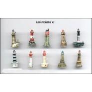 WORLD FAMOUS LIGHTHOUSES PART 6 Rare SET 10 Mini PORCELAIN Figures 3cm Official FEVES France