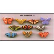 BUTTERFLIES OF THE WORLD Rare SET 10 Mini PORCELAIN Figures 4cm Official FEVES France