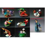 RARE SET 7 Figures DRAGONBALL CAPSULE NEO ADVENTURE Part 7 Chichi and Fish Figures Bronze And Special Figure Colored