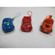 COMPLETE SET 3 Mini Figure 3cm Characters Cars Sally Mater Lightning McQueen Danglers Keyholder