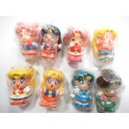 SAILOR MOON Set 8 FIGURES 4cm Mercury Mars Jupiter Venus Salior BANDAI