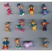 RARE Complete Set 12 Mini Figures 3cm My Friends TIGGER & POOH DISNEY ZAINI Winnie