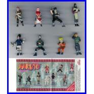 RARE Complete Set 8 Mini Figures 3cm NARUTO Ninja Animated Movie Manga ZAINI