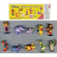 RARE Complete Set 10 Mini Figures 3cm WINNIE THE POOH DISNEY ZAINI