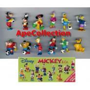 RARO Set 12 Mini Figures 3cm Mickey & Co. FOOTBALL SOCCER Donald Duck DISNEY ZAINI
