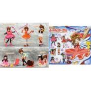 Rare SET 6 Figures SAKURA CARD CAPTOR PART 1 Manga Anime JAPAN Originali BANDAI Gashapon
