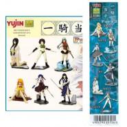 RARE Set 6 Figures IKKI TOUSEN Sexy Girls PART 2 Original YUJIN Giappone Gashapon