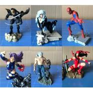 Rare SET 6 Figures MARVEL SUPER HEROES PART 3 Original BANDAI Gashapon JAPAN Spiderman Wolverine etc.