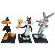 RARE LOT 3 Figures Collection Metal 3D LOONEY TUNES Warner Bros HOBBY AND WORK