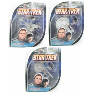 Star Trek SET 3 Keyrings Models ENTERPRISE NCC-1701 KLINGON Original