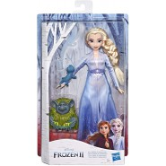FROZEN 2 Figure Doll ELSA With Pabbie And Salamander 30cm Original HASBRO E6660