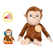 PLUSH 25cm CURIOUS GEORGE Monkey With SOUNDS In Nice Box ORIGINAL Official