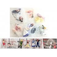 SET 6 Figure FUJIKO MINE COLLECTION from Lupin THE 3rd BANDAI JAPAN Gashapon