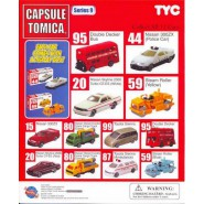 COMPLETE SET 12 Cars 3cm CAPSULE TOMICA Series 9 Mini Car Collection Original TOMY Yujin With Boxes