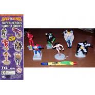 Set 6 Figures cm SUPER HEROES DC COMICS LARGE COLLECTION Superman Batman Flash Wonder Woman Lex Luthor