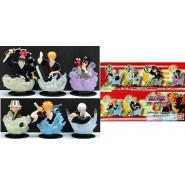 RARE Complete Set 6 Figures BLEACH STAMPS PART 1 Gashapon BANDAI Japan