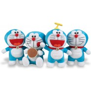 Complete set 4 SOFT TOY 20cm DORAEMON Normal Smiling Propeller Hamburger Play By Play