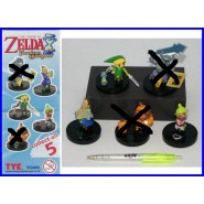 Lot 3 Figures LINK etc. from Videogame ZELDA PHANTOM HOURGLASS Gashapon TOMY Original