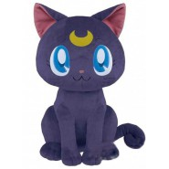 Plush LUNA Cat Purple from SAILOR MOON MOVIE ETERNAL Big 40cm Peluche Original OFFICIAL BANPRESTO