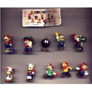 Rare COMPLETE SET 10 Mini Figures  SUPER MARIO BROS NINTENDO Original ZAINI
