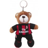MILAN Keyholder Teddy Bear Soft 8cm Red Black Metal Ring ORIGINAL ACM