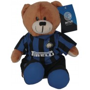 F.C. INTER Teddy Bear Soft 24cm Sitting Black Blue ORIGINAL Internazionale